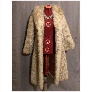 Vintage faux-fur snow leopard coat